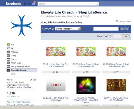 Shop LifeSource on Facebook